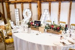 wedding venue with letter lights