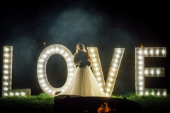love light bulb letters