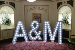 light up-letters A&M at Plaisterers Hall