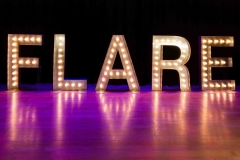 Flare-word-in-giant-Letter-lights-800x533