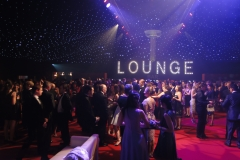 party dancefloor with light up letters