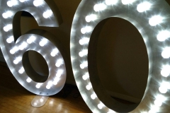 giant illuminated number sign 60