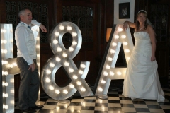 H&A wedding letters