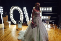 light up love sign watford show bride