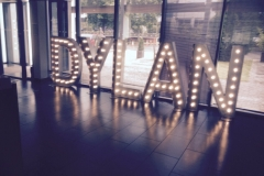 name in lights - Dylan