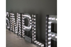 text in light up letters