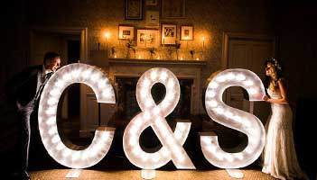Light Up Wedding Initials Wedding Letter Hire